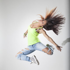 dancer posing on a studio background