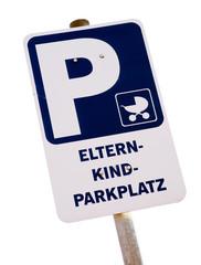 Schild - Eltern Kind Parkplatz