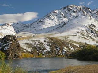 Selenge river - central Mongolia landscape