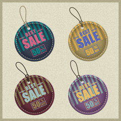 set of business labels and sale tags