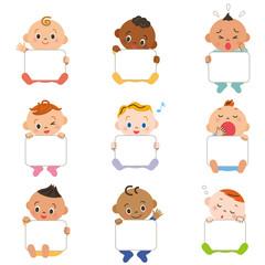 赤ちゃん集合 フレーム ホワイトボード
