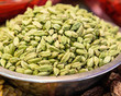 Green Cardamom seeds in a bowl