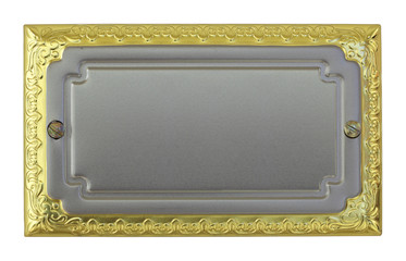 Metallic sign plate