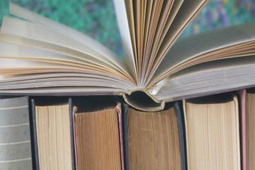 open book, close up,selective focus