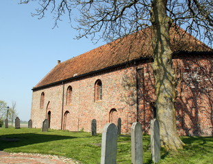 Church of Ezinge from the 13th century in Ezinge.