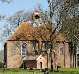 Cloister Church from 1250 in the village Thesinge