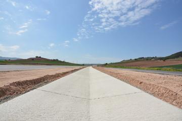 nueva carretera en construccion