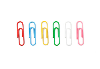 Set of colorful paperclips