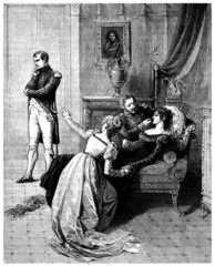 Napoleon : repudiating Josephine - begining 19th century