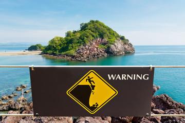 Warning sign at Island
