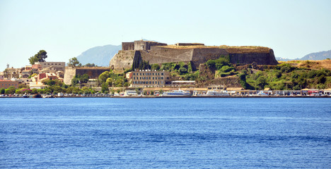 fort and the town of Corfu, Greece, Europe