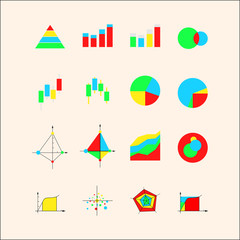 Icons for graphs and charts