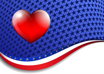 Heart Stars & Stripes Background