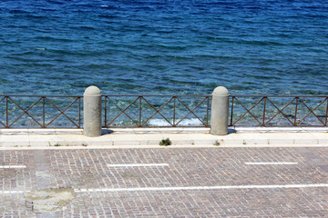 Sea and Promenade, Reggio Calabria, South Italy