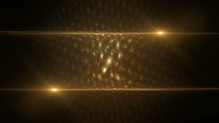 Golden abstract background  with rays of light, seamless loop
