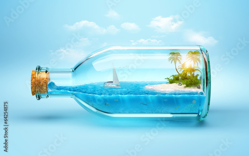 Poster Oceanië tropical island