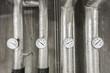 Heizungsrohre mit Temperaturanzeige © Matthias Buehner