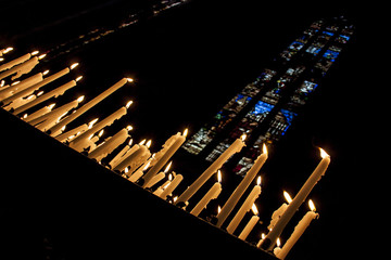 Candele in chiesa