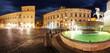 Rome - Palace Quirinale, panoramic view at night