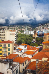 the view from Cablecar in Funchal Madeira Portugal