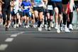 Leinwanddruck Bild - marathon