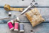 Fototapety sewing box