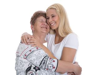 Mutter und Tochter verliebt - Arm in Arm