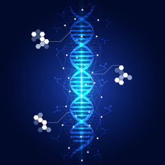 dna abstract light blue background