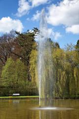 Die Fontäne im Kurpark Bad Pyrmont