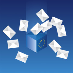 EU voting 2014 vector