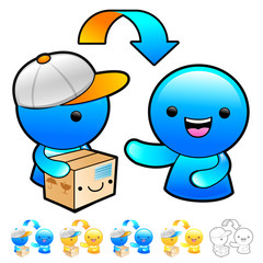 Goods addressee transfer Illustration. Product and Distribution