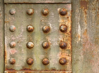 background with steel rivets