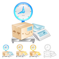 Illustration of Scales to measure the weight of the product. Pro