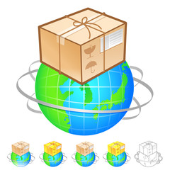 Exports of goods Illustration. Product and Distribution System D