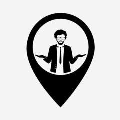 Businessman web icon