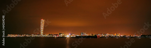 Staande foto Scandinavië Malmö Night Skyline