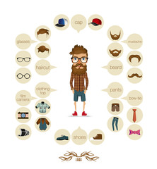 hipster infographic background hipster elements