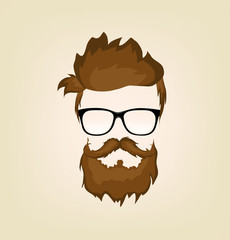 hipster in glasses