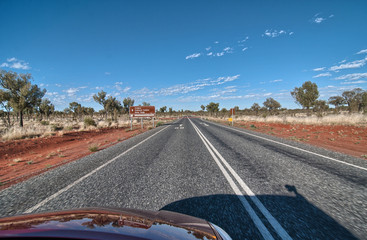 Winter Colors of Outback road, Northern Territory - Australia