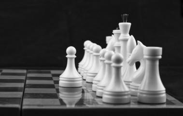 Chess white on black