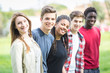 Multiethnic Group of Teenagers Outdoor - 64265444