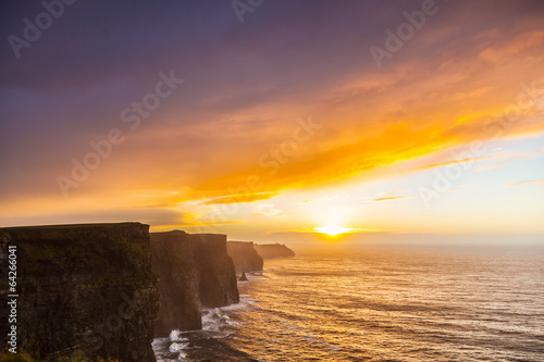 Foto op Aluminium Strand Cliffs of Moher at sunset in Co. Clare Ireland