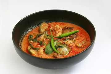 Delicious Thai food panang curry
