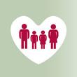 Family heart dots