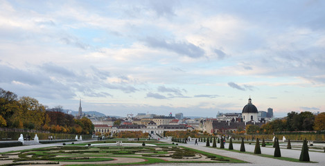 Famous Belvedere palace in Vienna