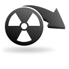 nucléaire sur symbole noir