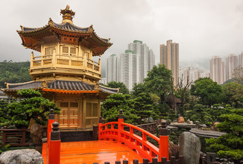 Golden Pavilion in Nan Lian Garden, Hong Kong