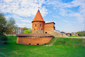 Kaunas Castle, built during the mid-14th century, in the Gothic