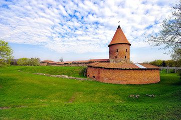 Old castle in Kaunas, Lithuania. 14th century