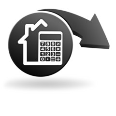 calculatrice maison sur symbole noir